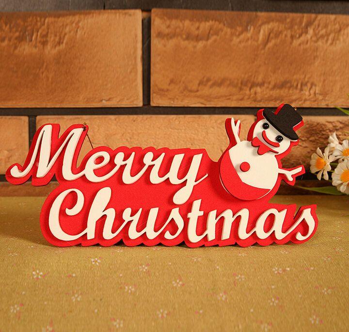 Christmas Snowman Hangtag Christmas Tree Decorations 10pcs Free Shipping #Unbranded