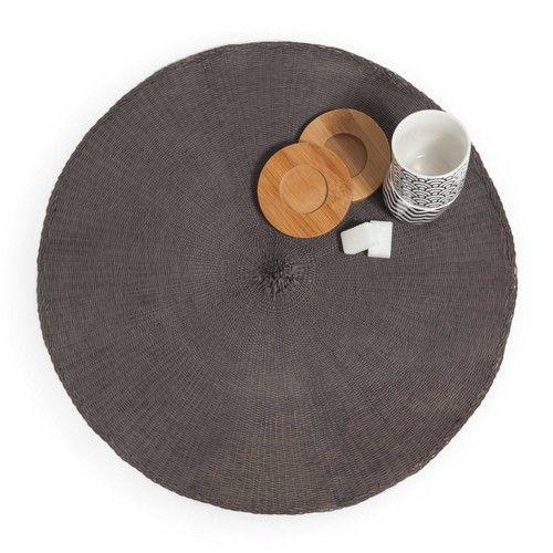 Tischset rund grau MALO