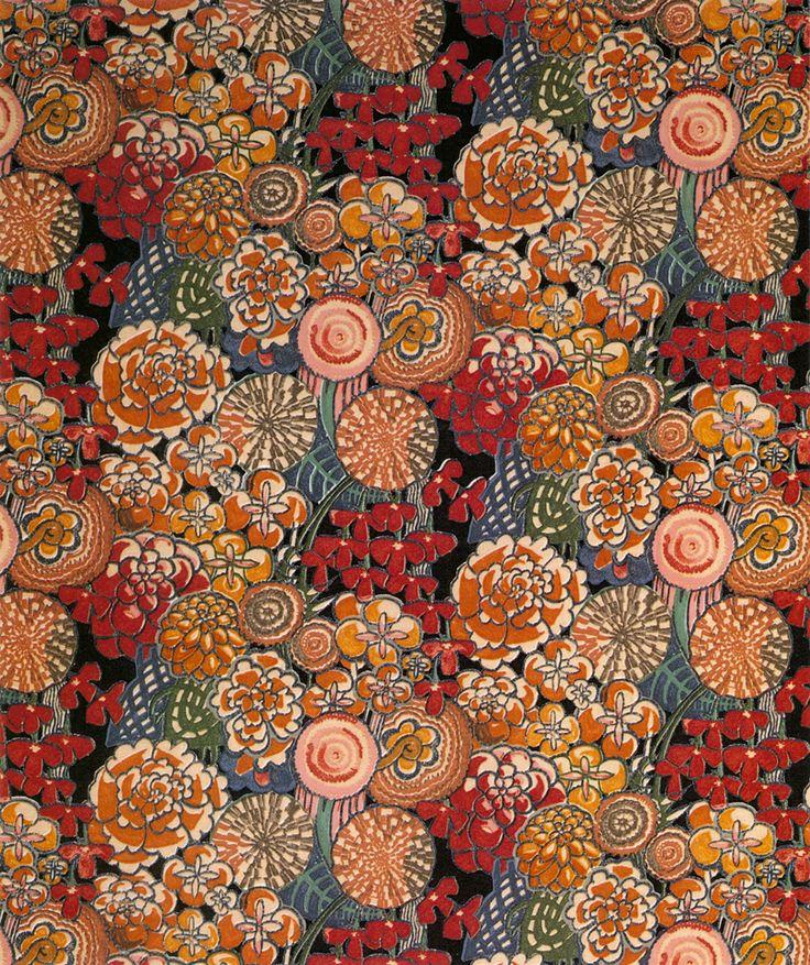Textile design by Charles Rennie Mackintosh