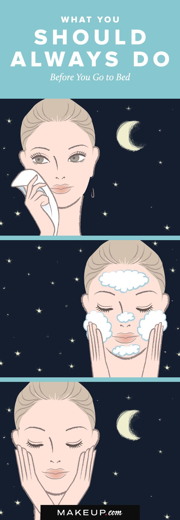 You know you should wash off your makeup before you go to bed, but there is a special routine you should follow before you hit the sack at night. We have tips for what you should add to your skincare routine before bedtime. Follow our guide now!