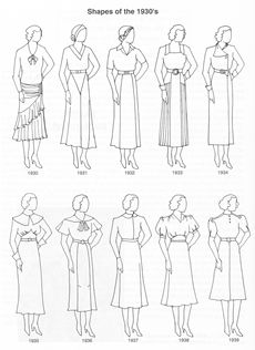 Patterns from the 1930's - enough for a full wardrobe, including underthings and swimsuit, and they're free in pdf