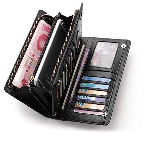 Oferta: 35.99€. Comprar Ofertas de Teemzone Nueva Larga Monedero Billetera de Cuero Genuino para Mujer Tarjetero de Crédito Tarjetas Ranuras Diseño Botón de la barato. ¡Mira las ofertas!