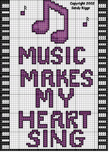 music cross stitch chart