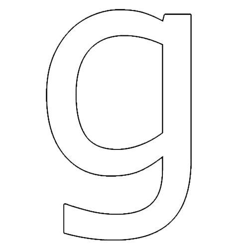 Molde Letra G Minúscula Letra Letra G Letras Para