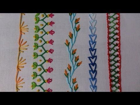 Hand embroidery. embroidery stitches tutorial for beginners. Part-2. decorative stitches. - YouTube
