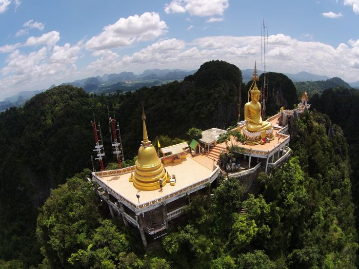 The Tiger Cave Temple is reached after a very steep hike of 1,178 steps, in 85 degree, 95 percent humidity weather near the equator.  The worst part, however, are the gangs of monkeys that try to stea