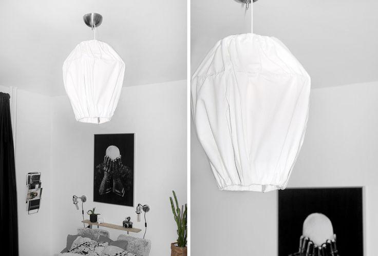 DIY loftlampe af stof // fabric lamp by Katarina Natalie