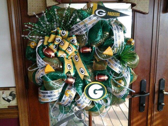 Green Bay Packer Wreath Wreaths Door Signs Pinterest