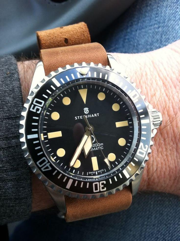 Steinhart Ocean Vintage mil spec Steinhart Watches mens luxury watch. steinhart #divers #marine #aviation pilots chronographs @calibrelondon
