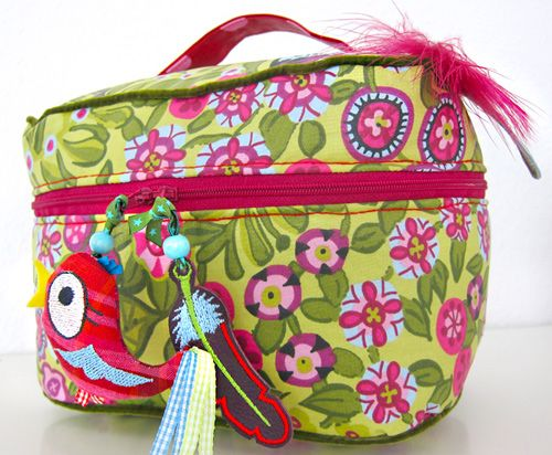 """Schwarz"" beauty case [Kosmetik-Koffer]  #farbenmix #taschenspieler"
