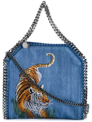 5b557e1371b Stella McCartney Mini Tiger Embroidered Falabella Shoulder Bag   El Baul  Azul   Pinterest   Bags, Stella McCartney and Shoulder Bag