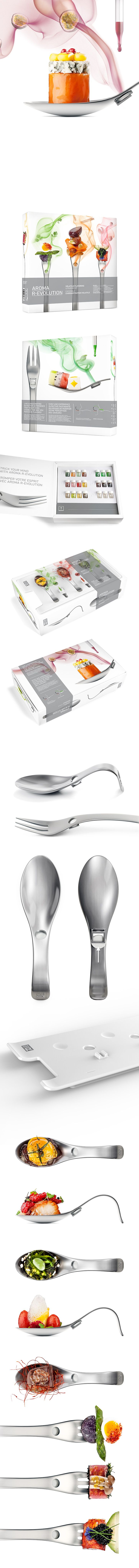 Aromafork & Aromaspoon - Cutlery design & Packagings by Chez Valois, Montreal, Quebec, Canada