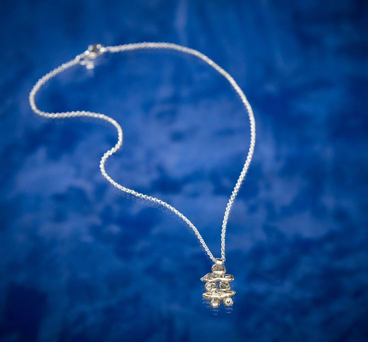 Small Inukshuk on Chain from the Tundra Creatures Collection by Arctic Ice Jewels.