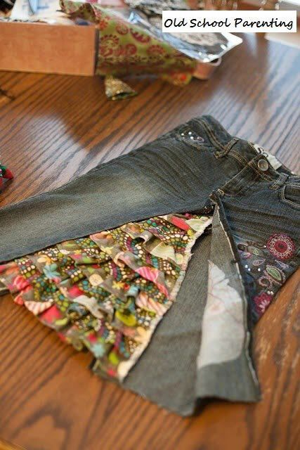 How to Turn Old Jeans into a Skirt. Not sure if this is smart.. or weird...