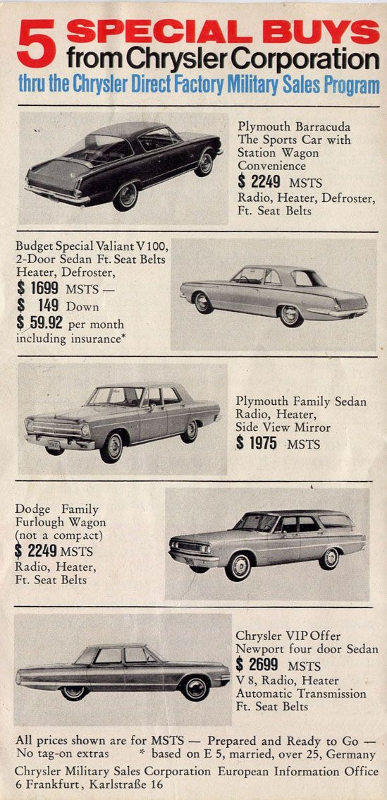 1965 Chrysler Cars