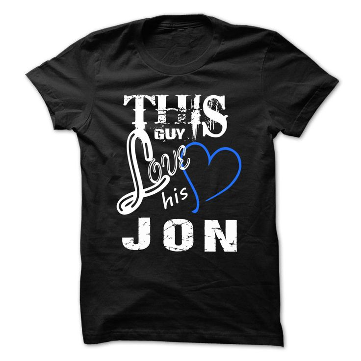 This Girl Love Jon № - Cool T-Shirt !!!If you are Jon or loves one. Then this shirt is for you. Cheers !!!xxxJon Jon