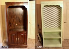 Pinterest and the Pauper!: How to Refinish Laminate Furniture. No sanding! (I'd like to do similar to our old entertainment center)