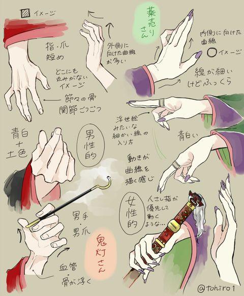 [pixiv] 【講座 】「手」の描き方10選【メイキング】 - pixivスポットライト