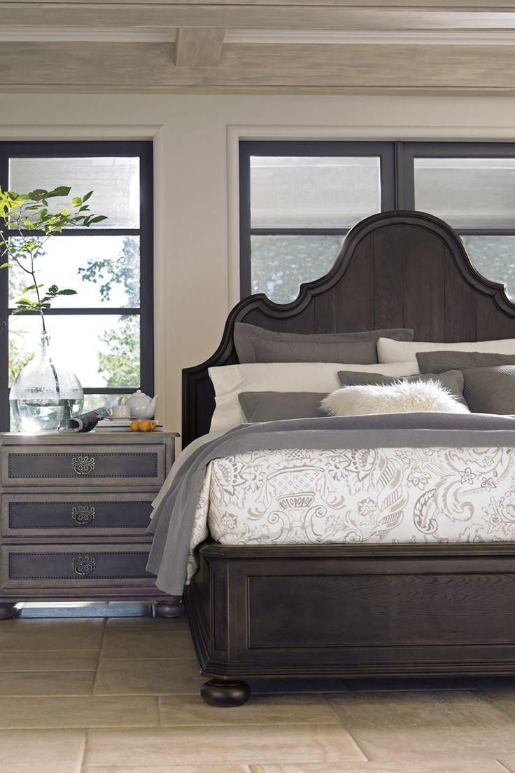 Bernhardt Belgian Oak Panel Bed White Oak In The