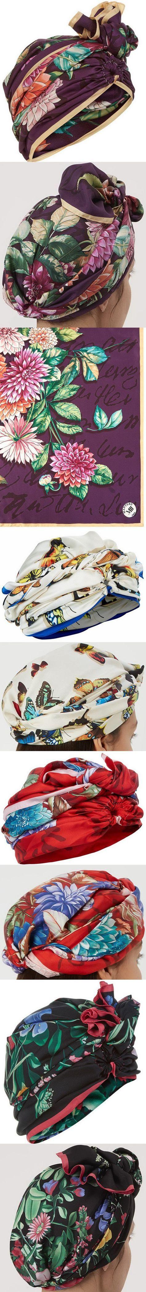 Тюрбаны с платков Dee Di Vita's silk headscarves are a vibrant accessory for holiday wardrobes.
