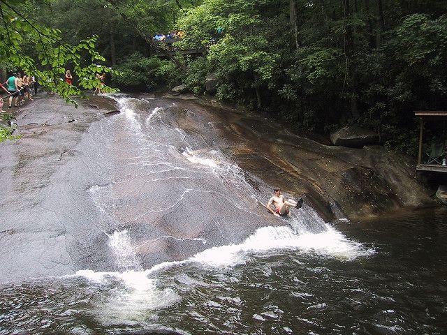 25 Best Ideas About Sliding Rock North Carolina On Pinterest North Carolina Waterfalls