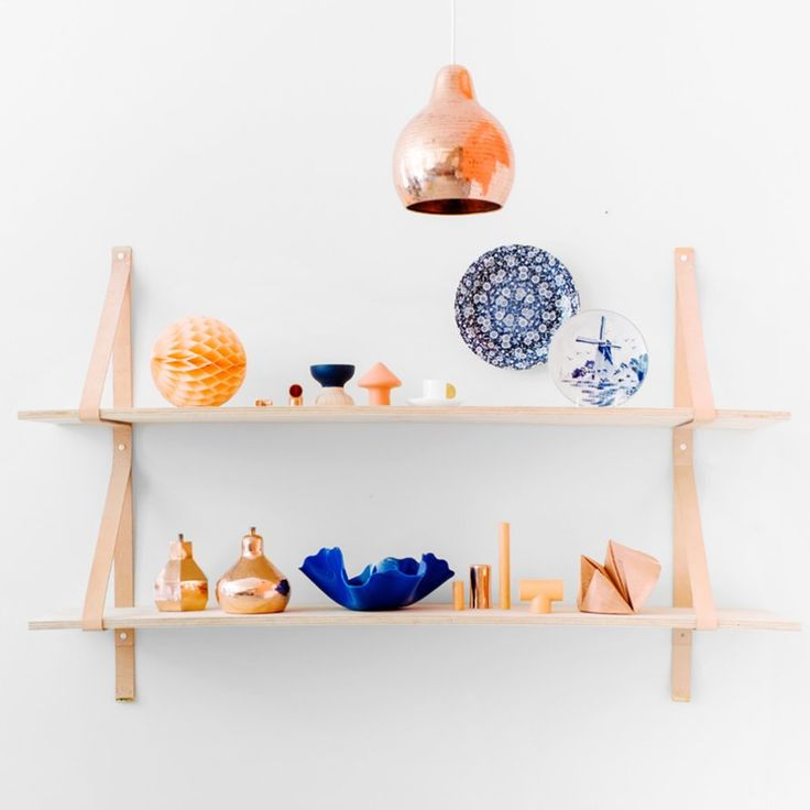 Assemblages Leather Shelves Double
