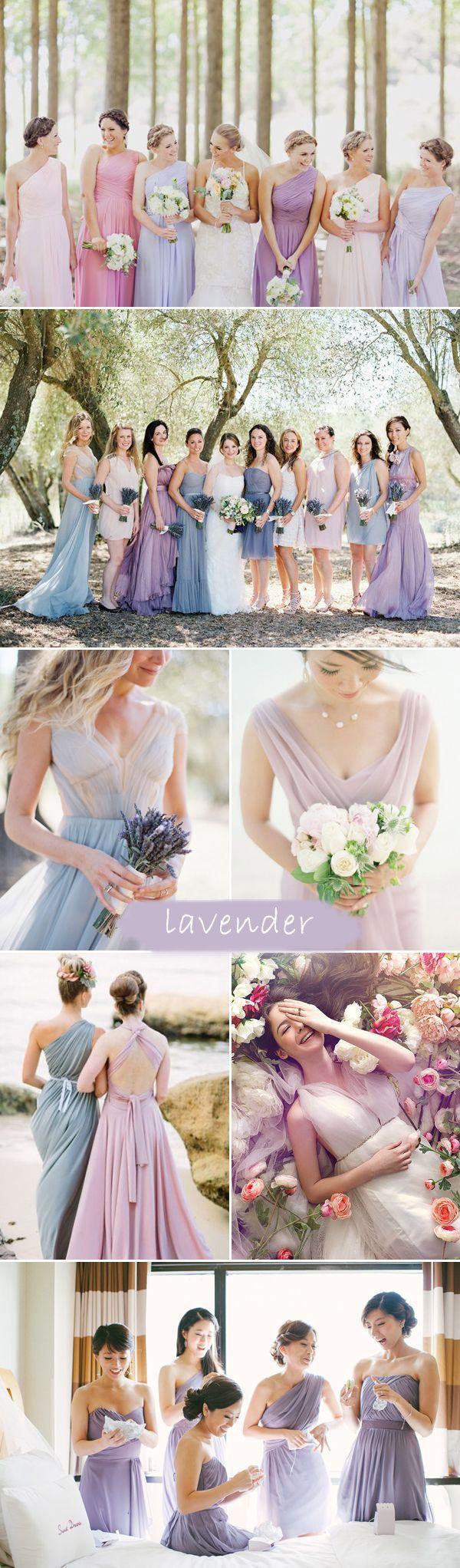 2015 trending shades of purple lavender bridesmaid dresses