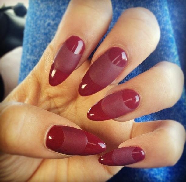 Matte moon almond nails | nail beauty | Pinterest | Almond ...
