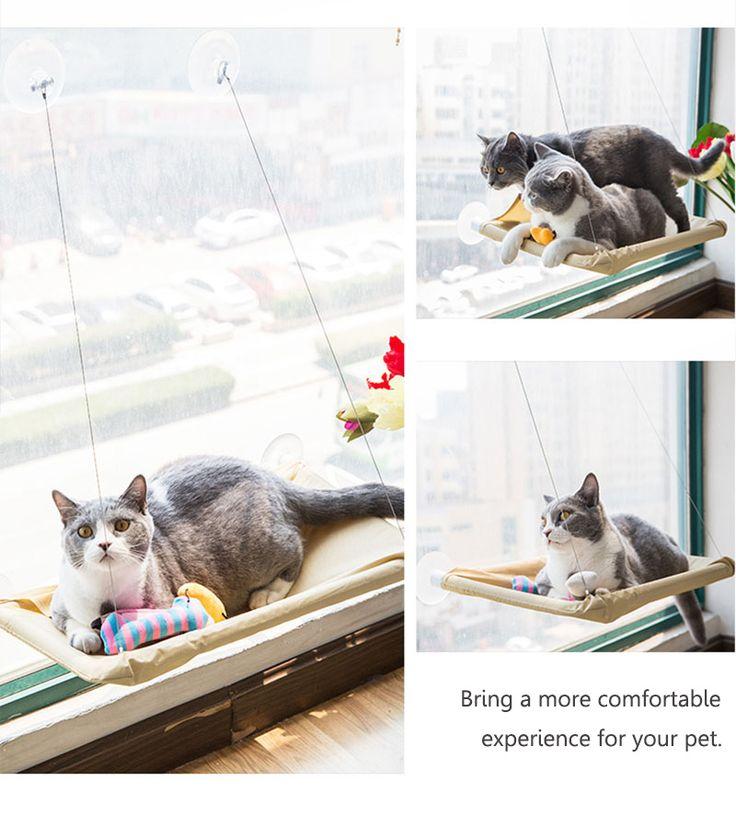 Yani HP-DC1Pet Cat Window Hammock Soft Cat Kennels 15KG Cat Safe Hanging Shelf Seat Cat Beds