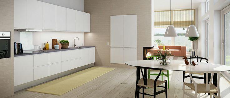 Minimalistisk kjøkken fra HTH | Modell Next Hvit