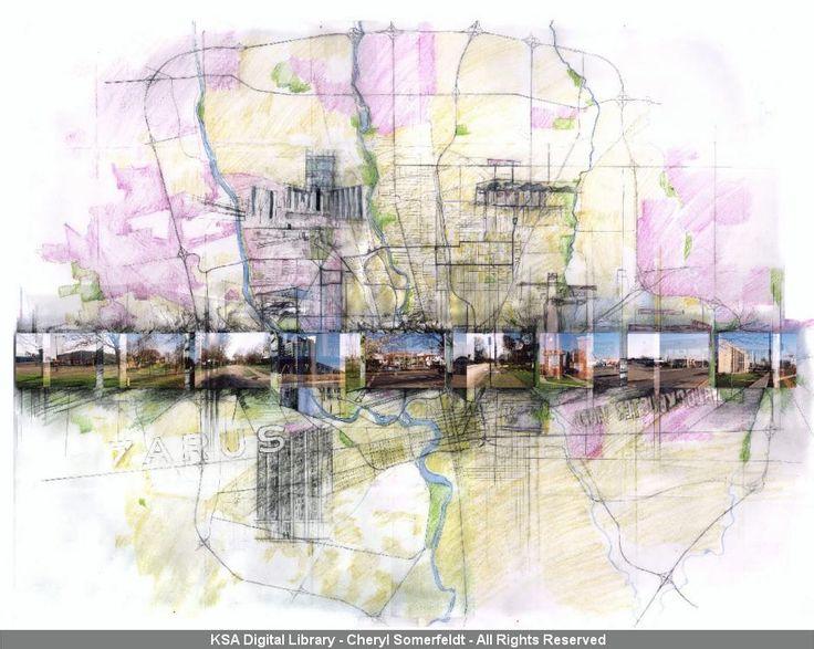 Map - Student project by Cheryl Somerfeldt, 2004: Cognitive mapping study | KSA Digital Library.