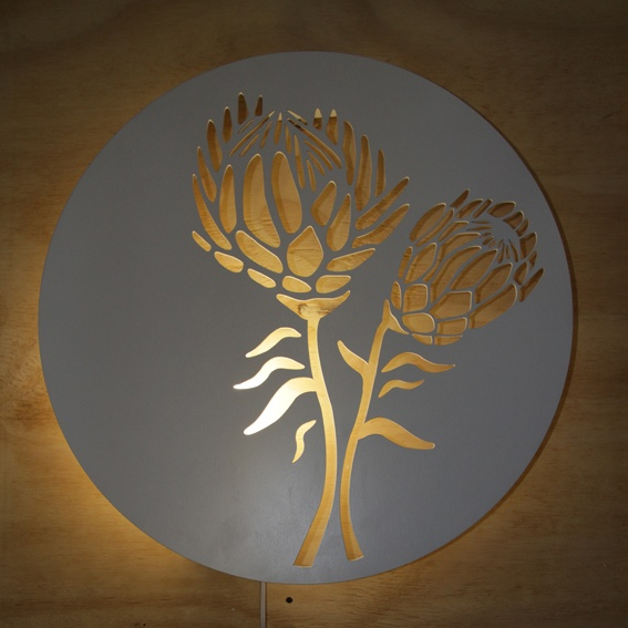 large protea light – www.utique.co.za