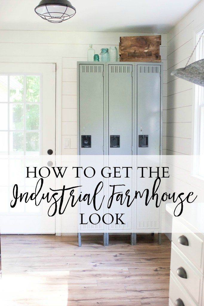 How to get the industrial farmhouse look in your home