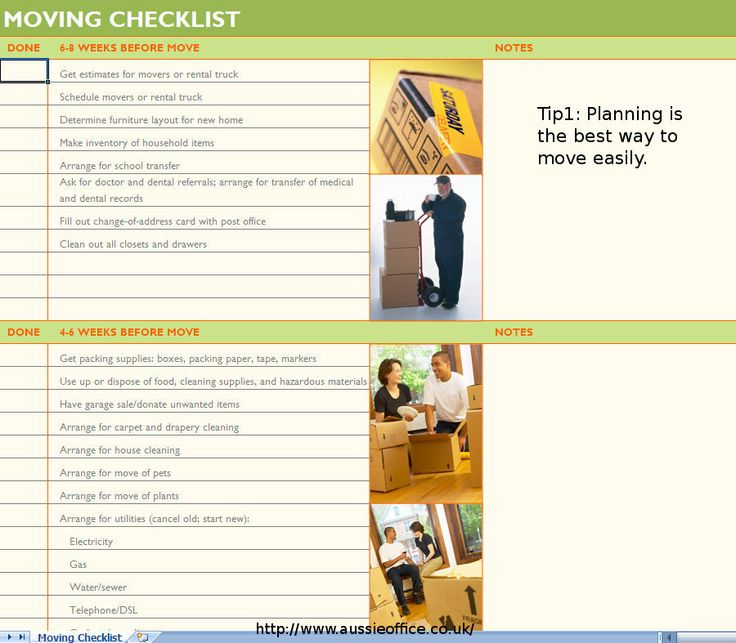 129 best Office Movers London images on Pinterest Office movers - moving checklist template