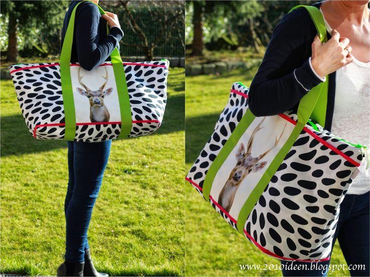 2010 Ideen: Strandtasche XXL - Hirsch trifft Zebra oder so ......