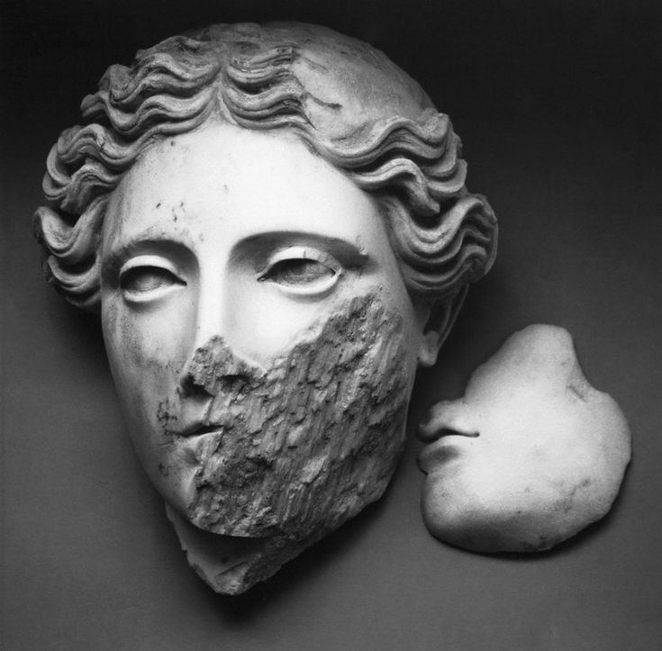 Mimmo Jodice, head of Demeter (Naples, National Archaeological Museum)