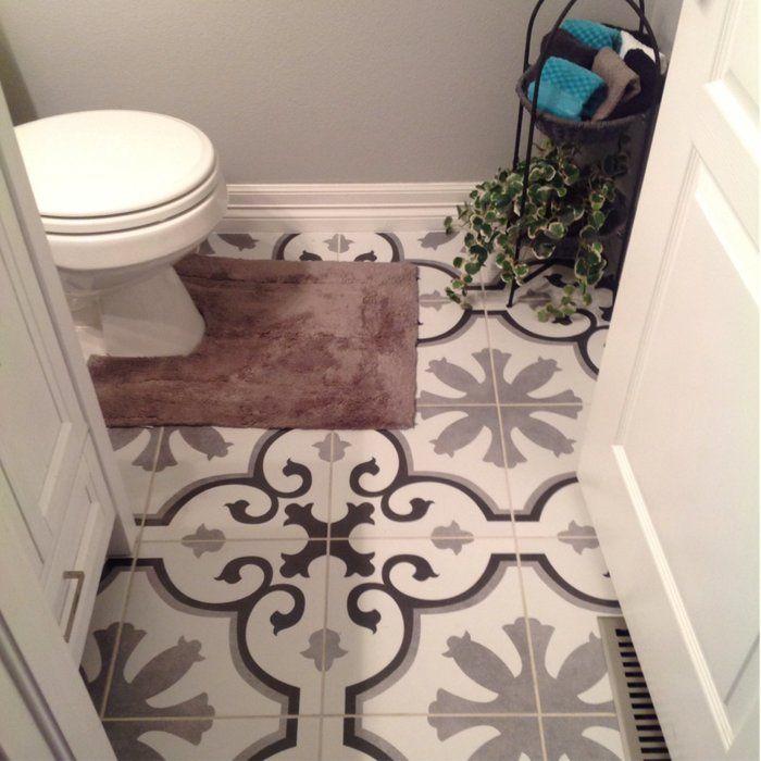 Elitetile Nouvelle 12 38 X 12 38 Ceramic Field Tile In Gray