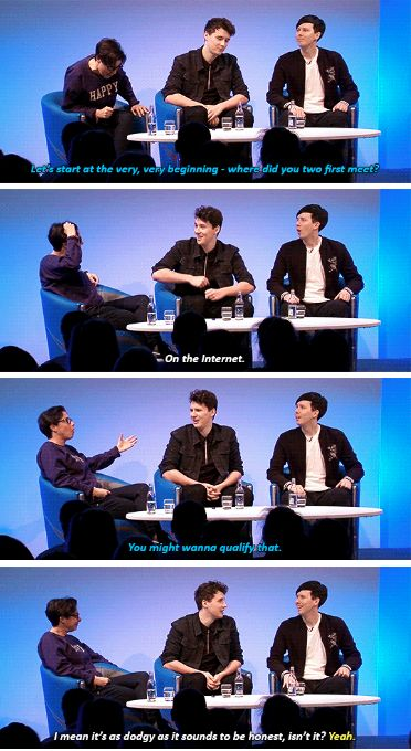 GIF SET: The Great Youtube Take Off: Dan & Phil Talk with Sue Perkins