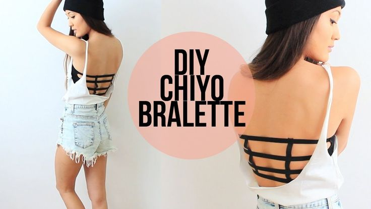 DIY fun strapless bra for those tops where your back will show and you want it to look better than a boring old bra strap!