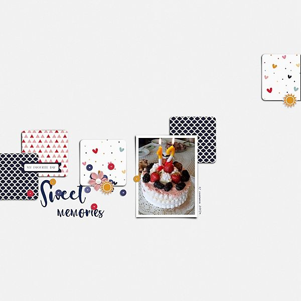 Sweet Life - Mini Kit | Designed by Soco at Oscraps [ link ] template by Soco