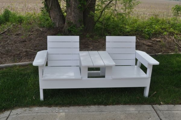 his and hers wooden love seat patio furniture, run the ...