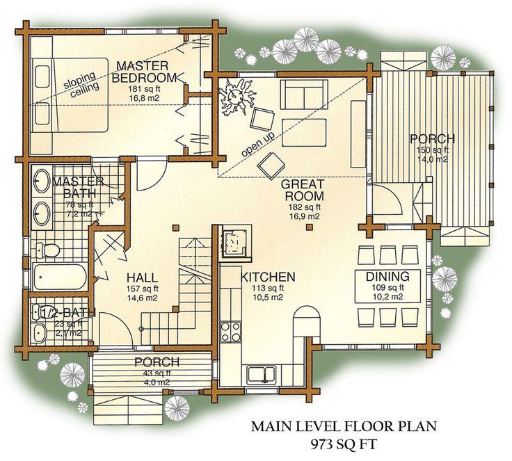 Luxury log cabin floor plans log homes in denver for Luxury log home plans