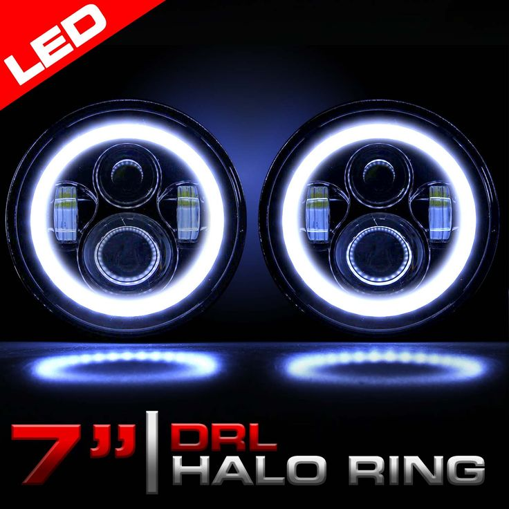 LED 7 Inch Round Headlights - Perfect for Jeep JK and TJ
