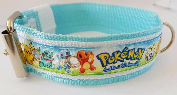 Collier sangle Pokemon bleu blanc : Animaux par le-reve-de-marilou