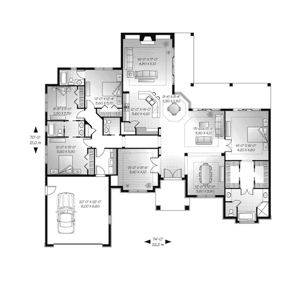 Giovanna sunbelt home house plans back to and laundry rooms for Sunbelt house plans