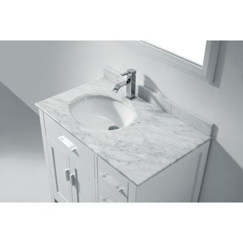 Studio Bathe Kalize 36 White Single Vanity with Mirror