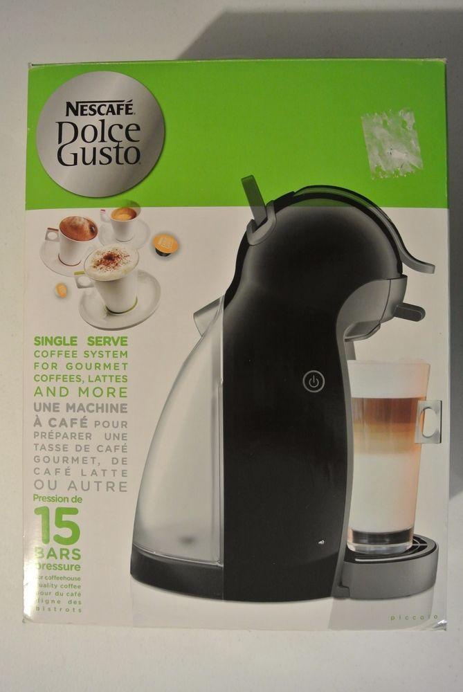 Nescafe Dolce Gusto Piccolo 1 Cups Coffee Maker - Black NO CAPSULES #Nescafe
