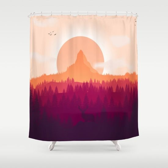 Can You See Deer In THe Art Shower Curtain