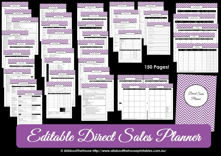 Direct Sales Planner – EDITABLE | AllAboutTheHouse
