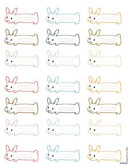 Bunny tags...I know someone who would like these!